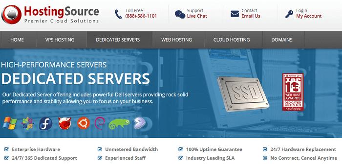HostingSource Dedicated Servers