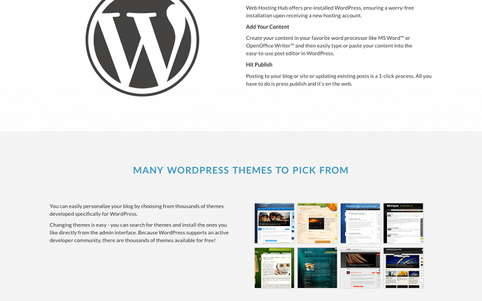 One-click WordPress installation is included