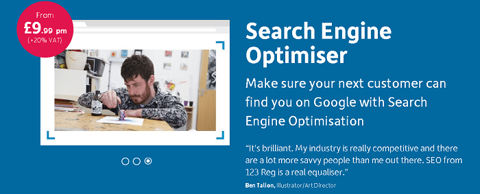 Search Engine Optimizer from 123-Reg