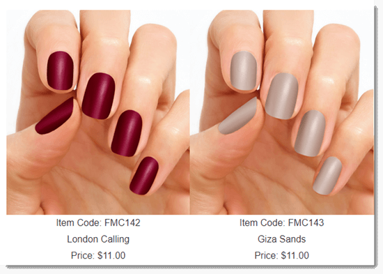 Basic Colors Examples From Color Street Nail Selections
