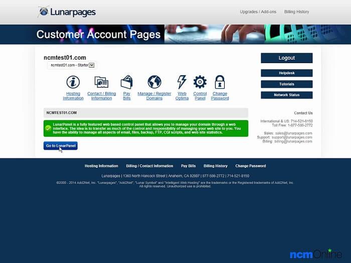 Lunarpages provides business web hosting, along with several other plans