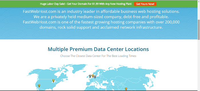Multiple Premium Data Center Locations from FastWebHost