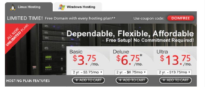 Explore Linux and Windows Hosting from Domain.com