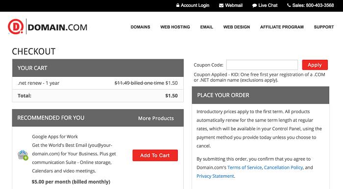 VPS Hosting Plans from Domain.com