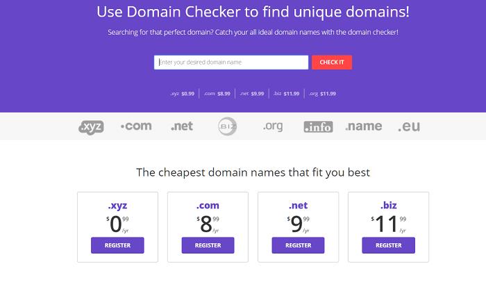 Affordable Domain Names from Hostinger