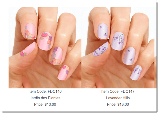 Two Examples Of Nail Patterns from Color Street