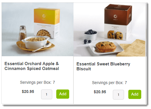 Oatmeal and Biscuit Products