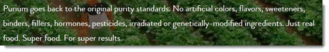 Original Purity Standards