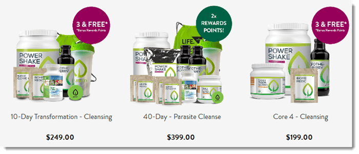Product Packs from Purium