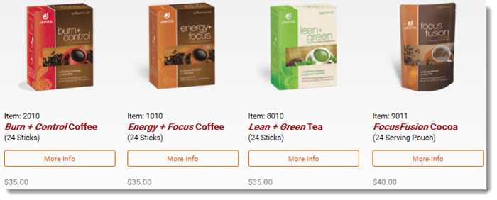 Products From Javita Coffee