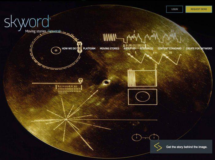 Skyword Home page