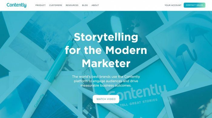 Contently Home Page (for clients)