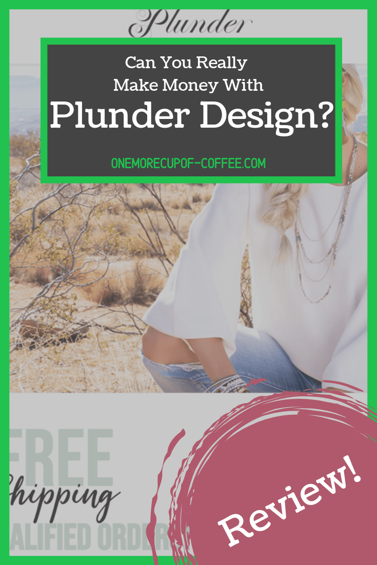 "screenshot of the plunder design website with text overlay that says, ""can you really make money with plunder design?"""