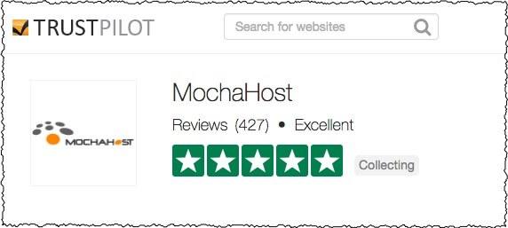 mochahost trustpilot recommendation 5 stars