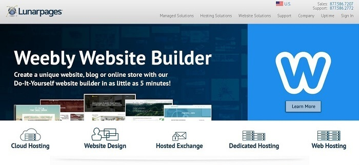 Lunarpages has several different plans to help host your website.