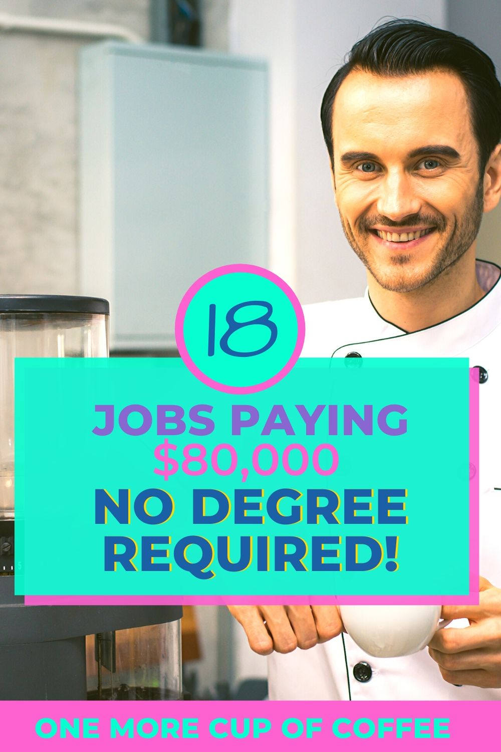 Chef smiling representing jobs paying $80K with no degree required.