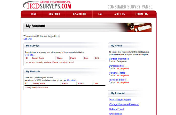 HCDSurveys Main Hub