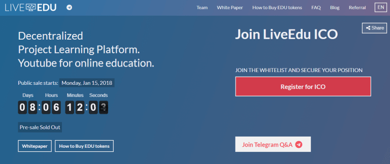 LiveEdu ICO Review: Offering Live Coding Tips from Experts