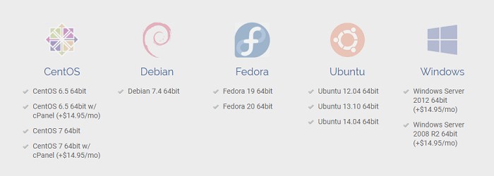 DotBlock promotes Ubuntu, Fedora, Debian, CentOS, and Windows Servers