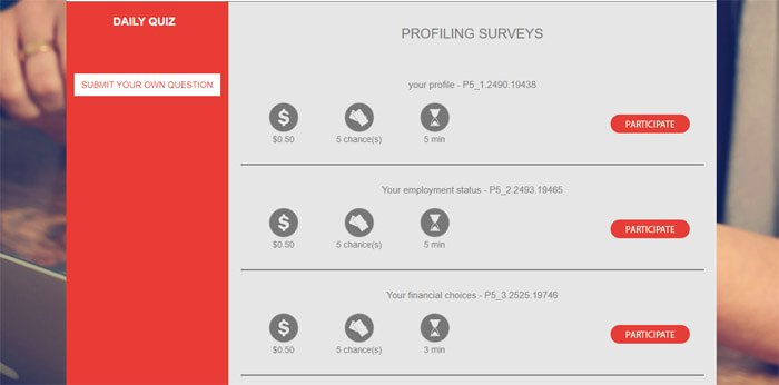 Profiling Surveys On Leger Web