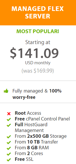 For a $141.09 a month, you get no root access to your dedicated server