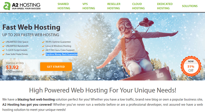 Rackspace's splash page promotes 3.92/mo hosting