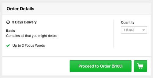 fiverr $100 order