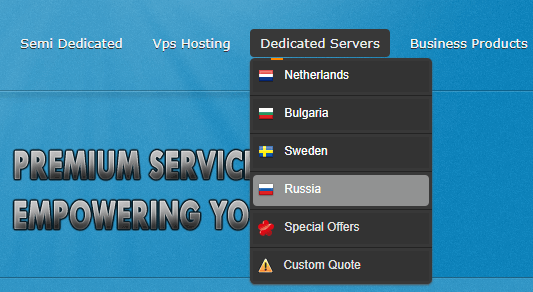 HostPlay offers us the choice of Sweden, Russia, Bulgaria, and the Netherelands.