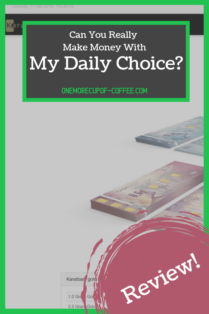 "screenshot of the my daily choice website and the title text ""can you really make money with my daily choice"""