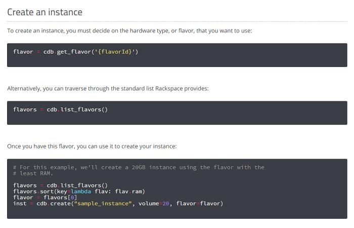 Python API calls to Rackspace