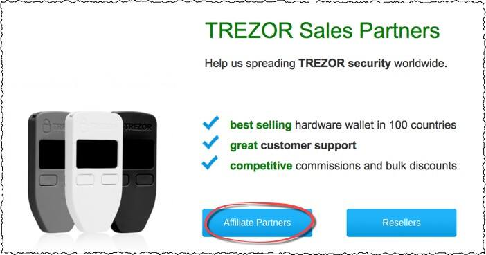 trezor affiliate program