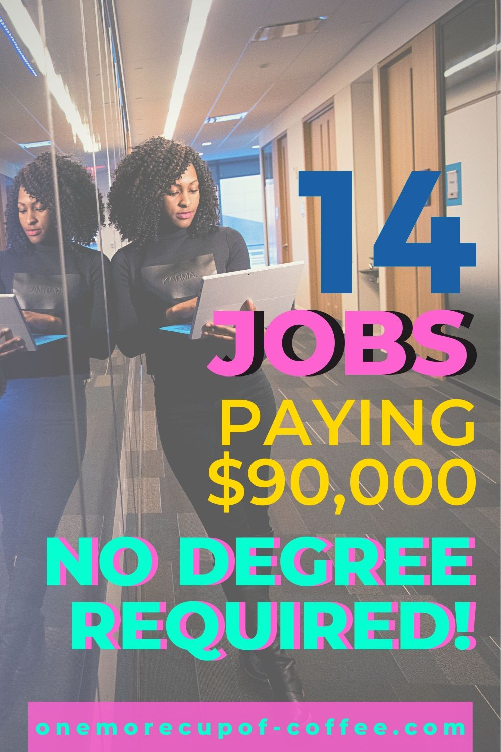 Woman working in cybersecurity representing jobs paying $90,000 and no degree!