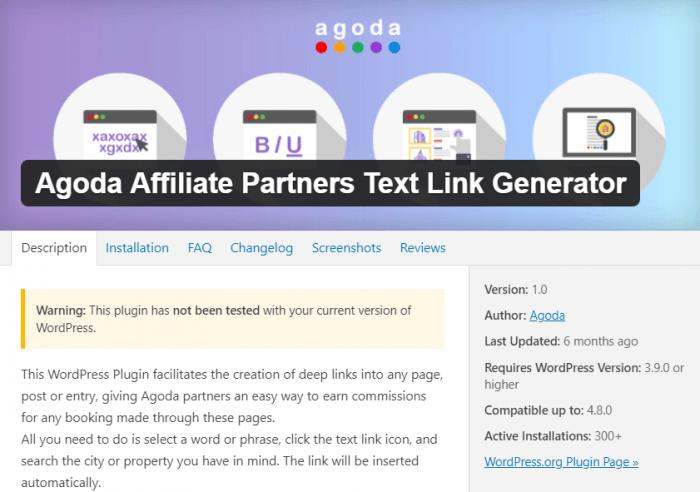 Agoda Affiliate WordPress Plugin