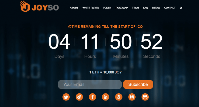 Joyso Hybrid Exchange ICO