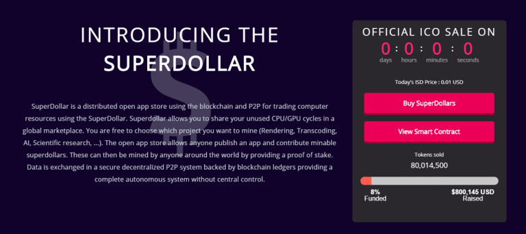 SuperDollar Token Sale: An Abandoned ICO, Or A Scam?