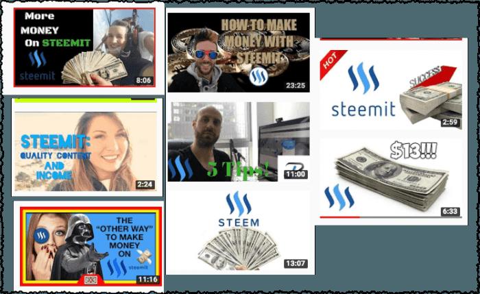 make money on steemit youtube videos