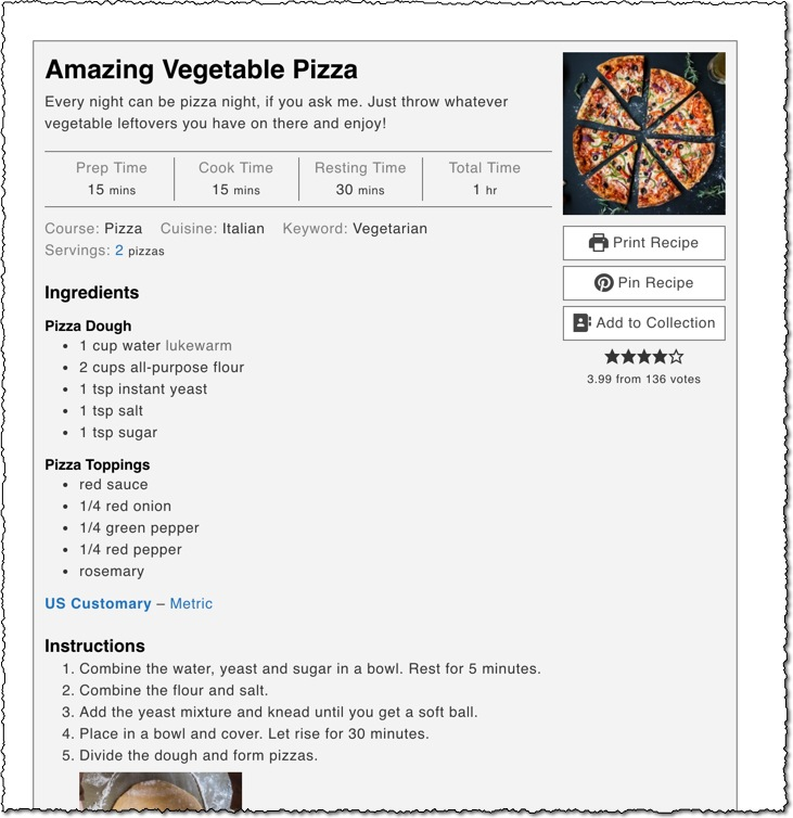 wp recipe maker plugin screenshot