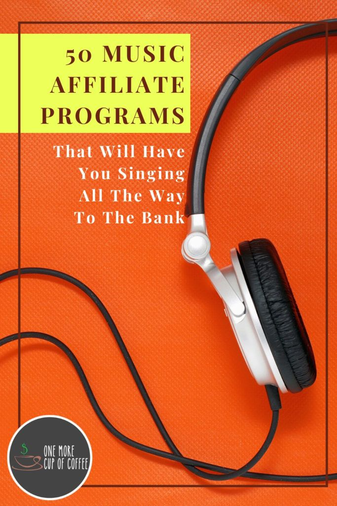 orange background with headphone and overlay text