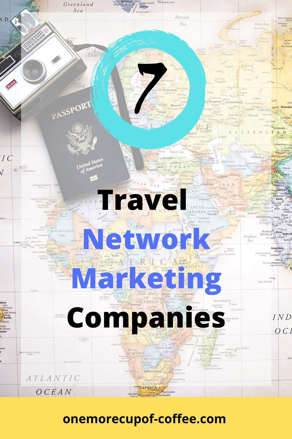 Passport and Map to represent travel network marketing companies