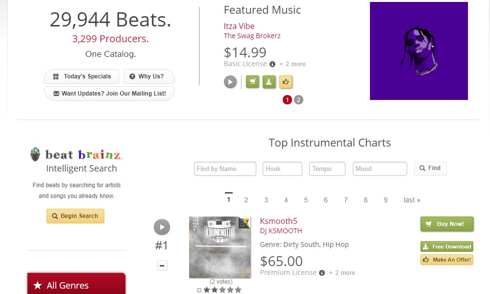 Beat Brokerz home page