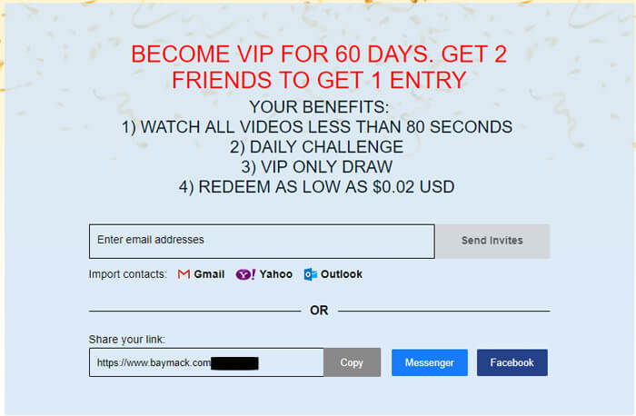 Become A VIP For 60 Days On Baymack