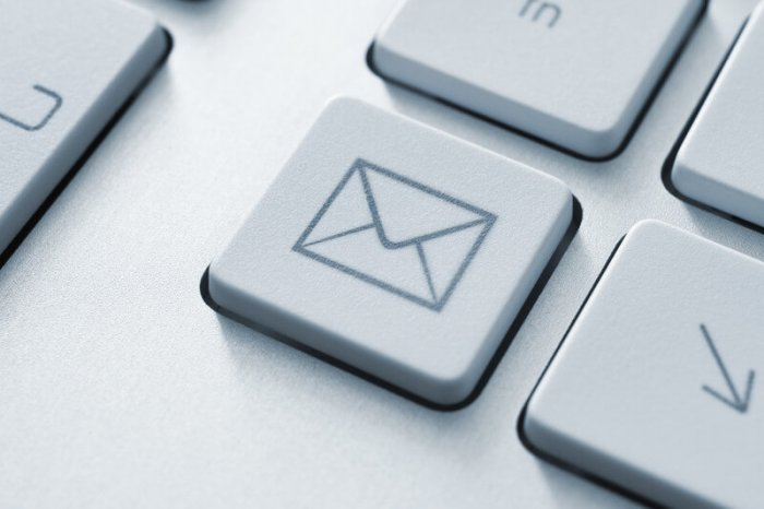 keyboard button with a picture of an envelope representing the Best WordPress Plugins For List Building Email Marketing