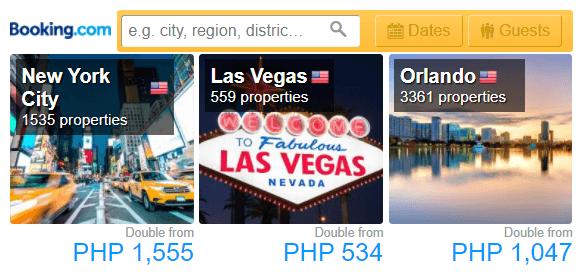 Booking.com Affiliate Inspiring Search Box