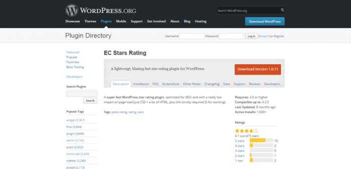 The plugin directory on the WordPress website.
