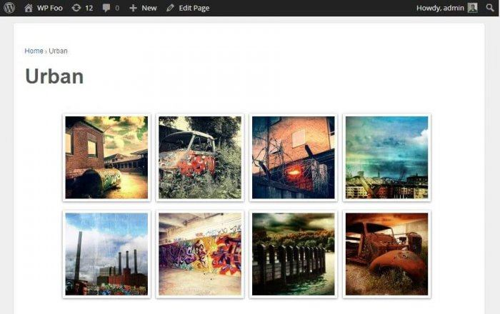 The preview for a gallery that was created using Foo Gallery. It's a simple 4 x 2 grid.