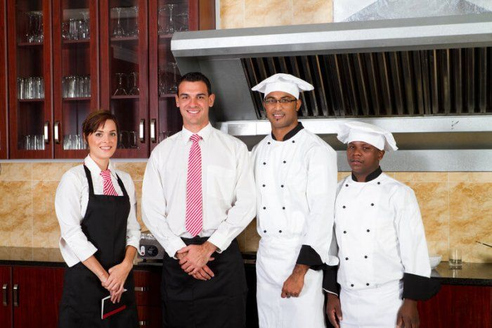 image of food service manager and staff