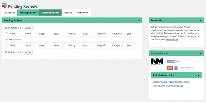 A tab showing pending reviews awaiting approval.