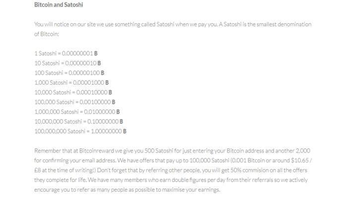 Satoshi Chart On Bitcoin Reward