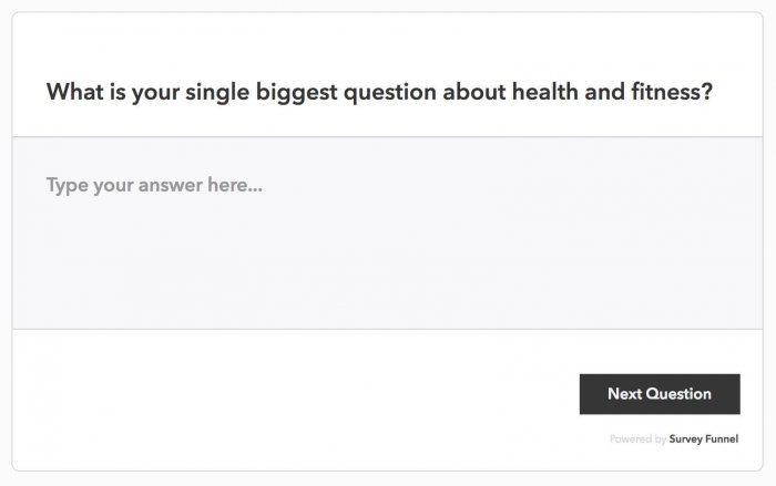 A question that is part of a Survey Funnel-generated poll as displayed on the user's front-end.