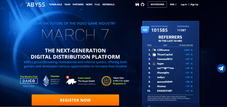 The Abyss ICO: Building a Reward Ecosystem for Gamers